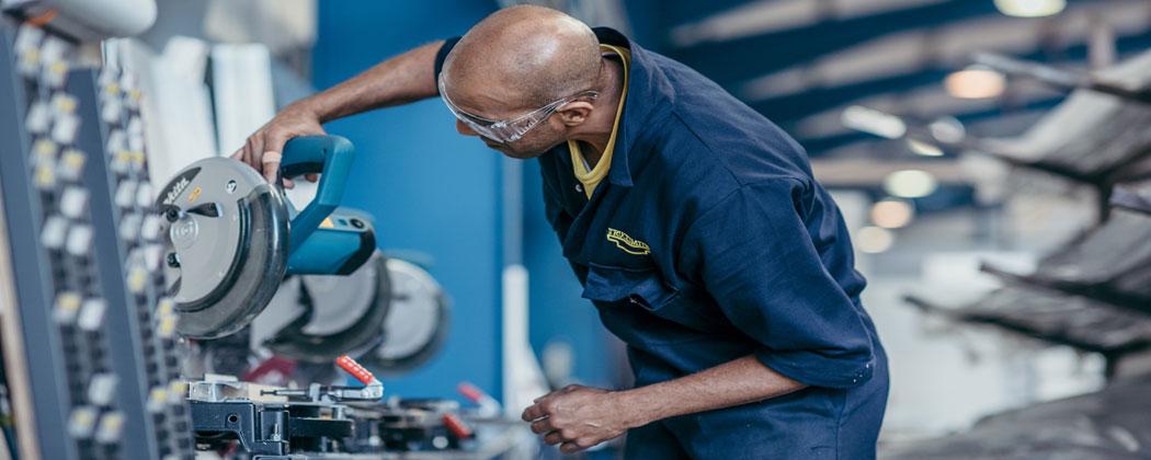 Trucksmith production employee at work